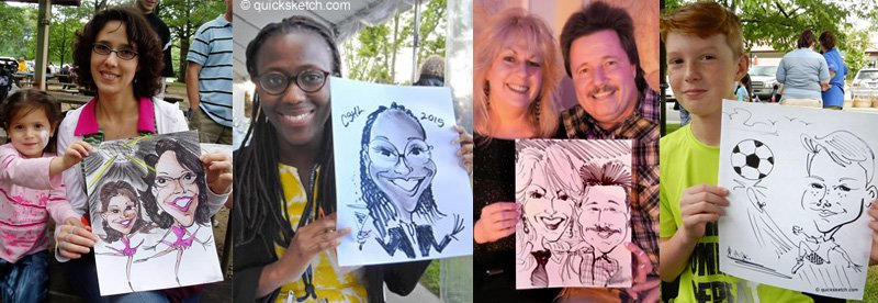 Assorted Caricature Samples Caricature Artist for parties caricaturist ny
