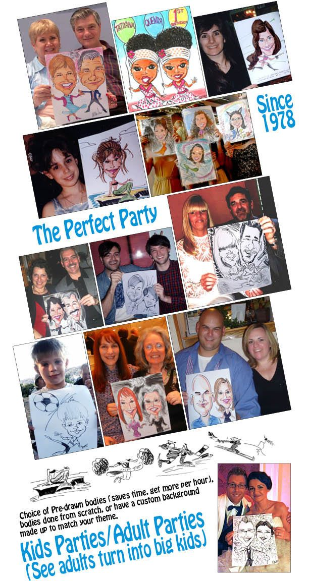 Party Caricature Artist Samples Caricature caricaturist ny
