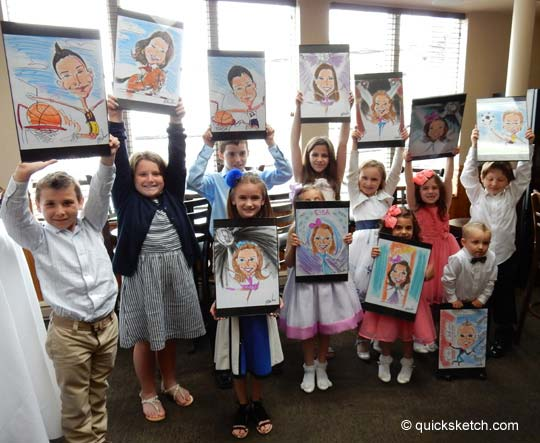 Caricature artist for communion party caricaturist ny